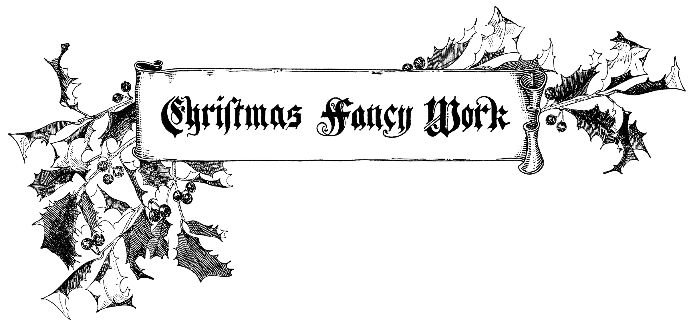 Free clipart of work black and white vintage. Christmas pictures download clip