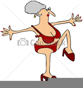 Free clipart old woman. Crazy lady images at