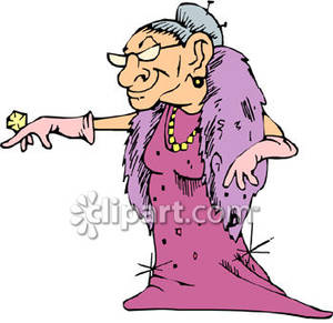 Free clipart old woman clip art freeuse download Rich Old Woman - Royalty Free Clipart Picture clip art freeuse download