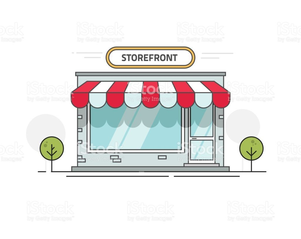 Free clipart on the benefits of a boutique dtore svg free download Store or shop front view vector illustration, cartoon line outline ... svg free download