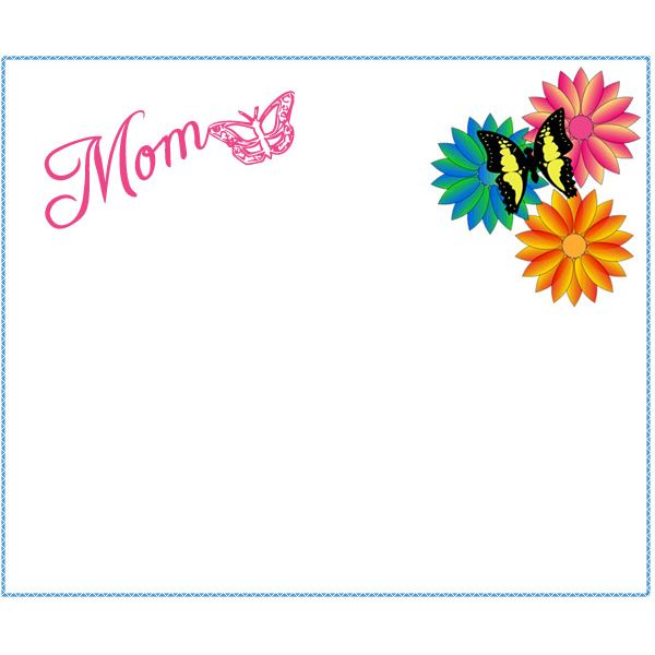 Free clipart page borders for a new mommy clipart black and white stock 6 Free Mother\'s Day Borders for Cards, Scrapbooks and Other Projects clipart black and white stock