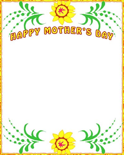 Free clipart page borders for a new mommy clipart freeuse stock Mother\'s Day Borders - Free Mothers Day Border Clip Art clipart freeuse stock
