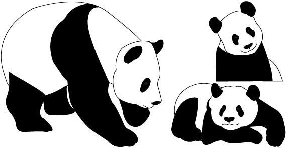 Panda bear clipart vector freeuse stock Cute Panda Bear Clipart | Clipart Panda - Free Clipart Images ... vector freeuse stock