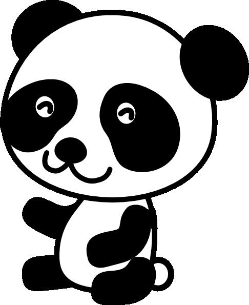 Free clipart panda bear jpg black and white Free Panda Bear Clipart, Download Free Clip Art, Free Clip Art on ... jpg black and white
