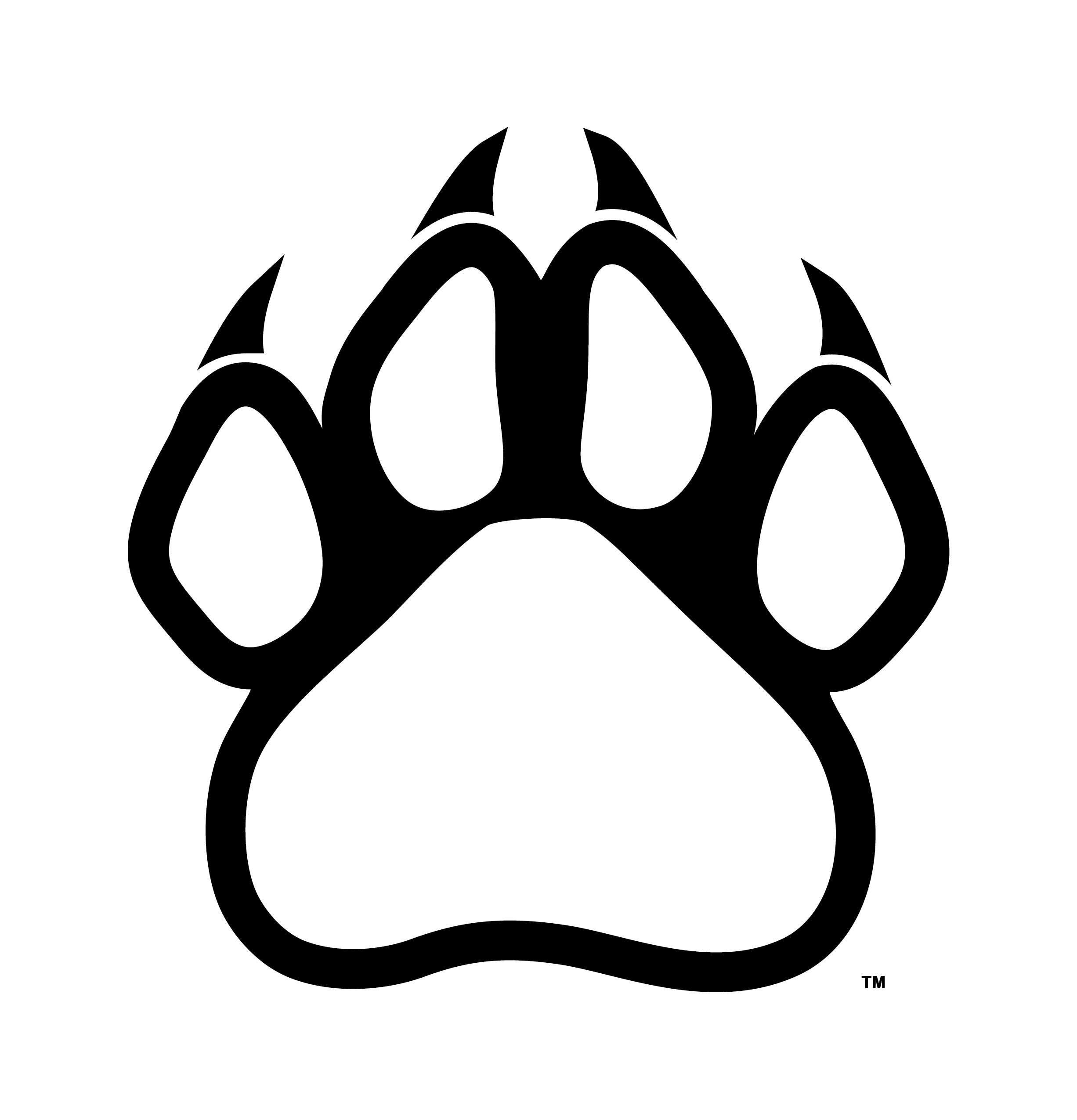 Free clipart panther paw. Print outline clip art