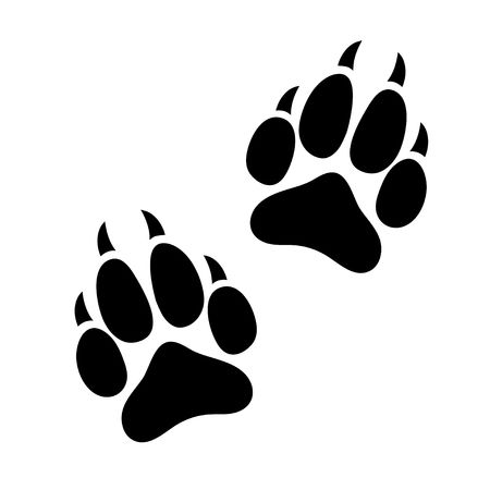 Free clipart panther paw.  stock vector illustration