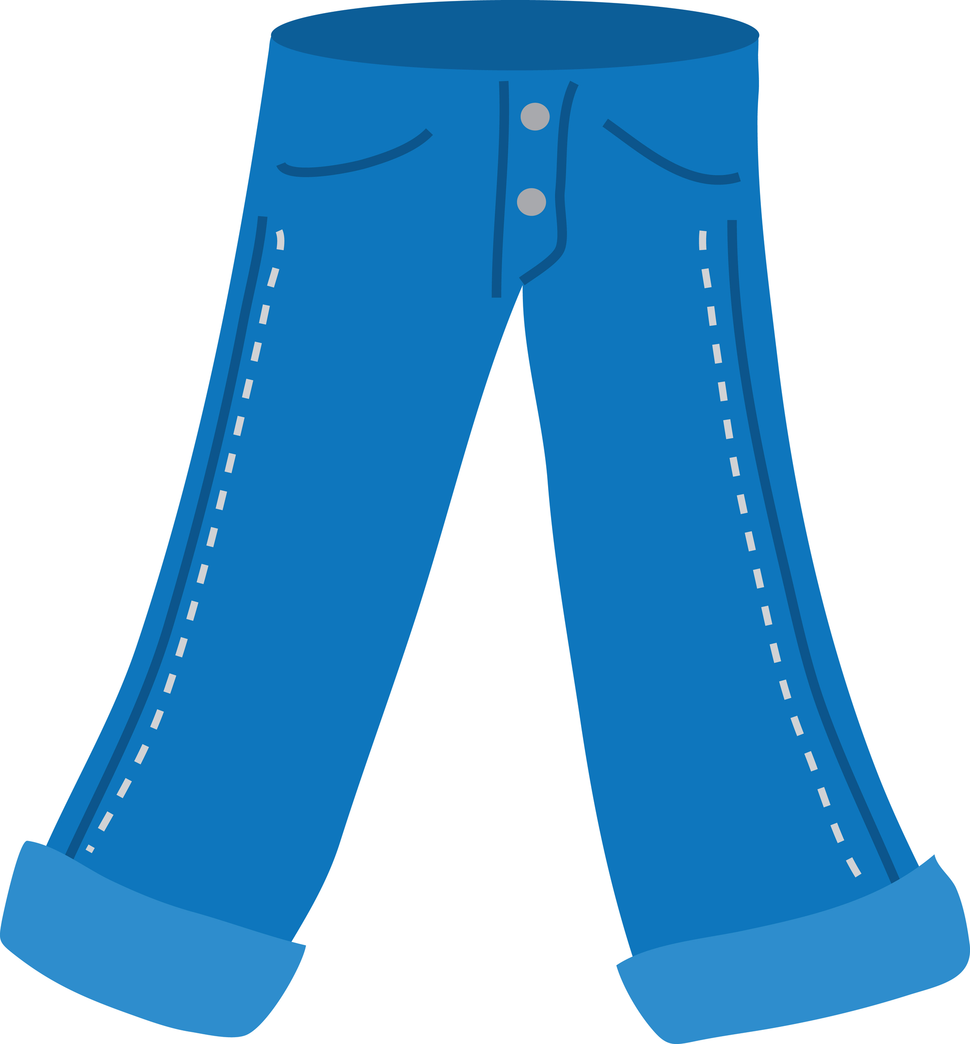 Put on pants clipart white background hq