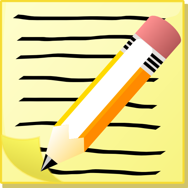 Picture of a pencil. Free clipart paper and pencils
