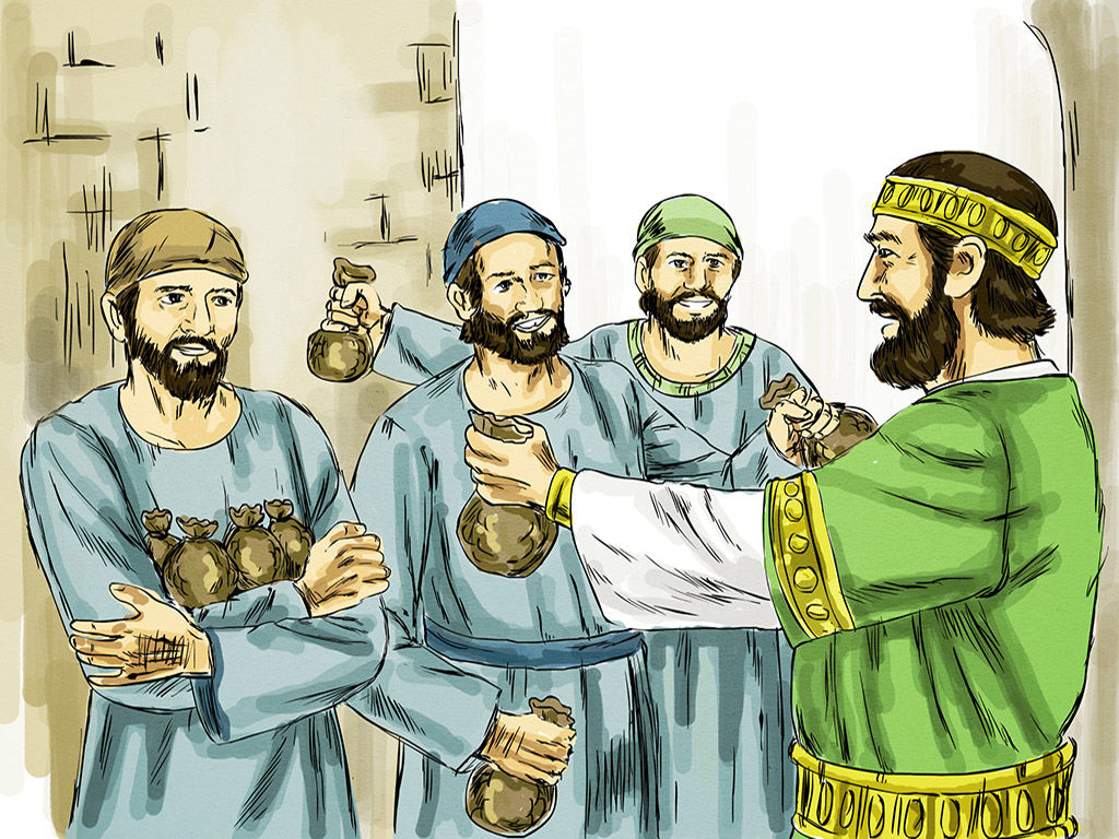 Free clipart parable of the ten minas. Freebibleimages talents gold a