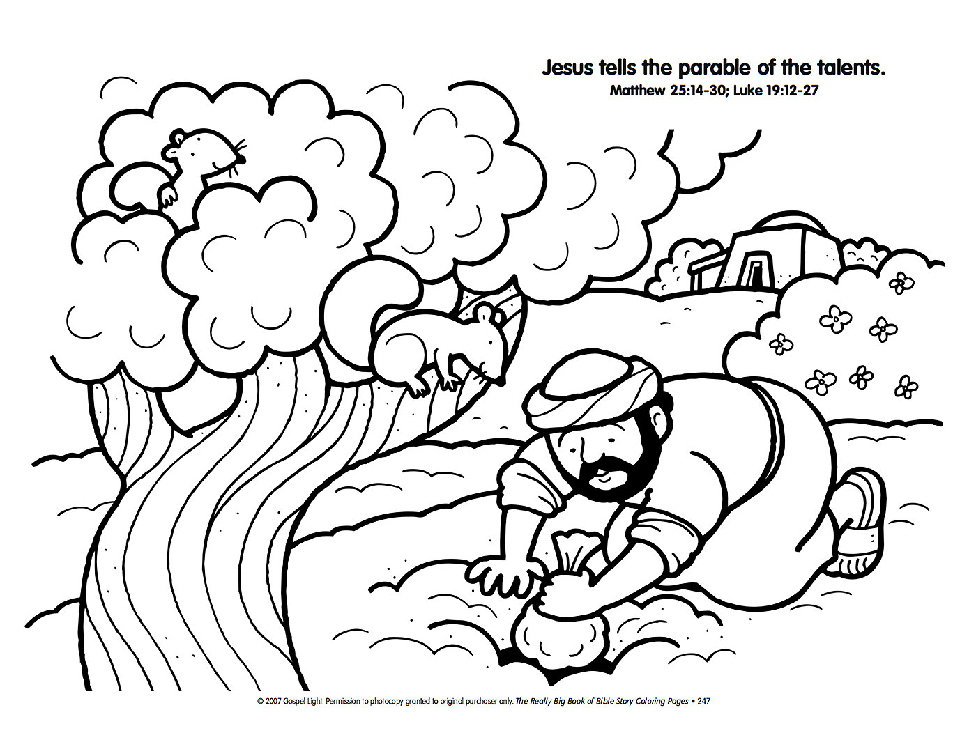 Christian coloring pages parables. Free clipart parable of the ten minas