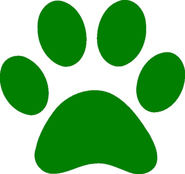 Free clipart paw print dog clip art transparent download Green Paw Print clip art - vector clip art online, royalty free ... clip art transparent download