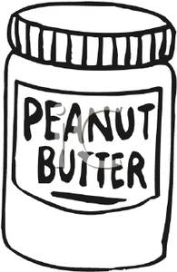 Peanut butter clipart black and white png black and white stock Black and White Jar of Peanut Butter - Royalty Free Clipart Picture png black and white stock