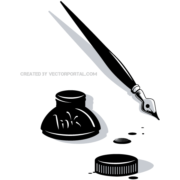 Free clipart pen and ink vector royalty free library Ink Pen Vector Clip Art | free vectors | UI Download vector royalty free library