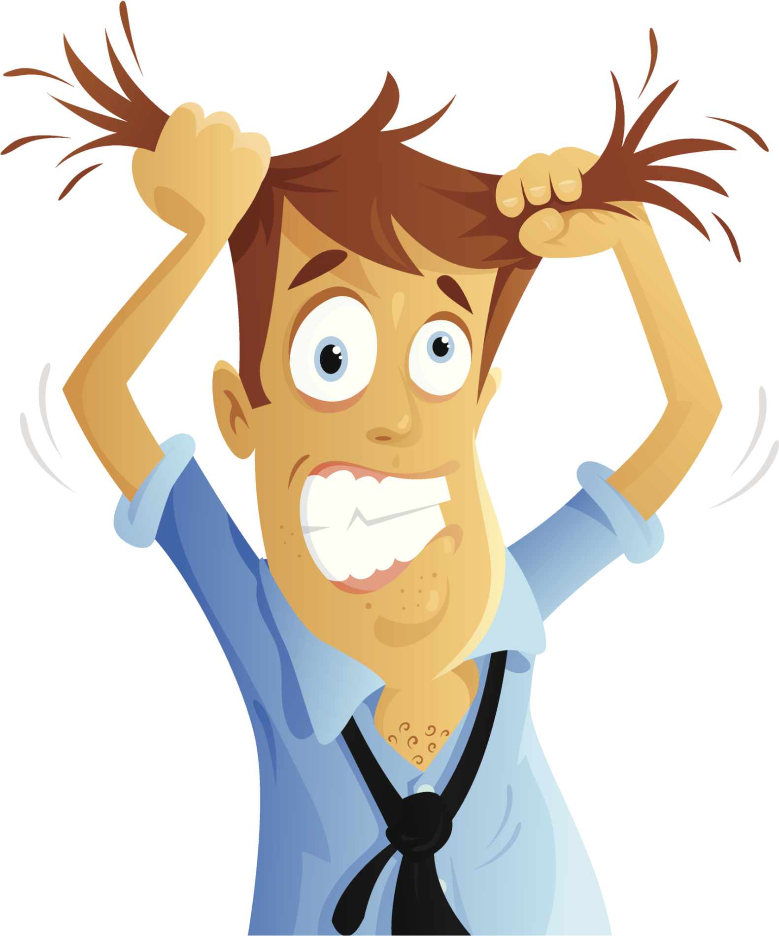 Tearing your hair out clipart png freeuse library Cartoon Pulling Hair Out Clipart | Free download best Cartoon ... png freeuse library
