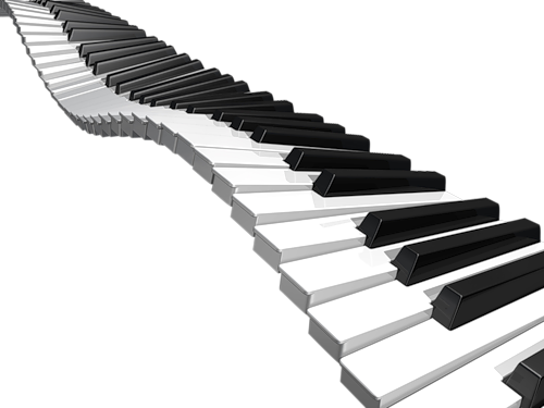 Free clipart piano keyboard png transparent background image black and white library Piano Keys Transparent Clipart image black and white library