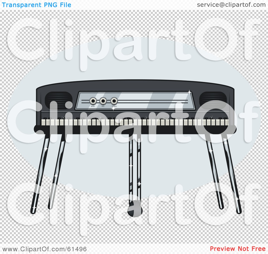 Free clipart piano keyboard png transparent background clip transparent stock Royalty-free (RF) Clipart Illustration of an Electric Piano On A ... clip transparent stock
