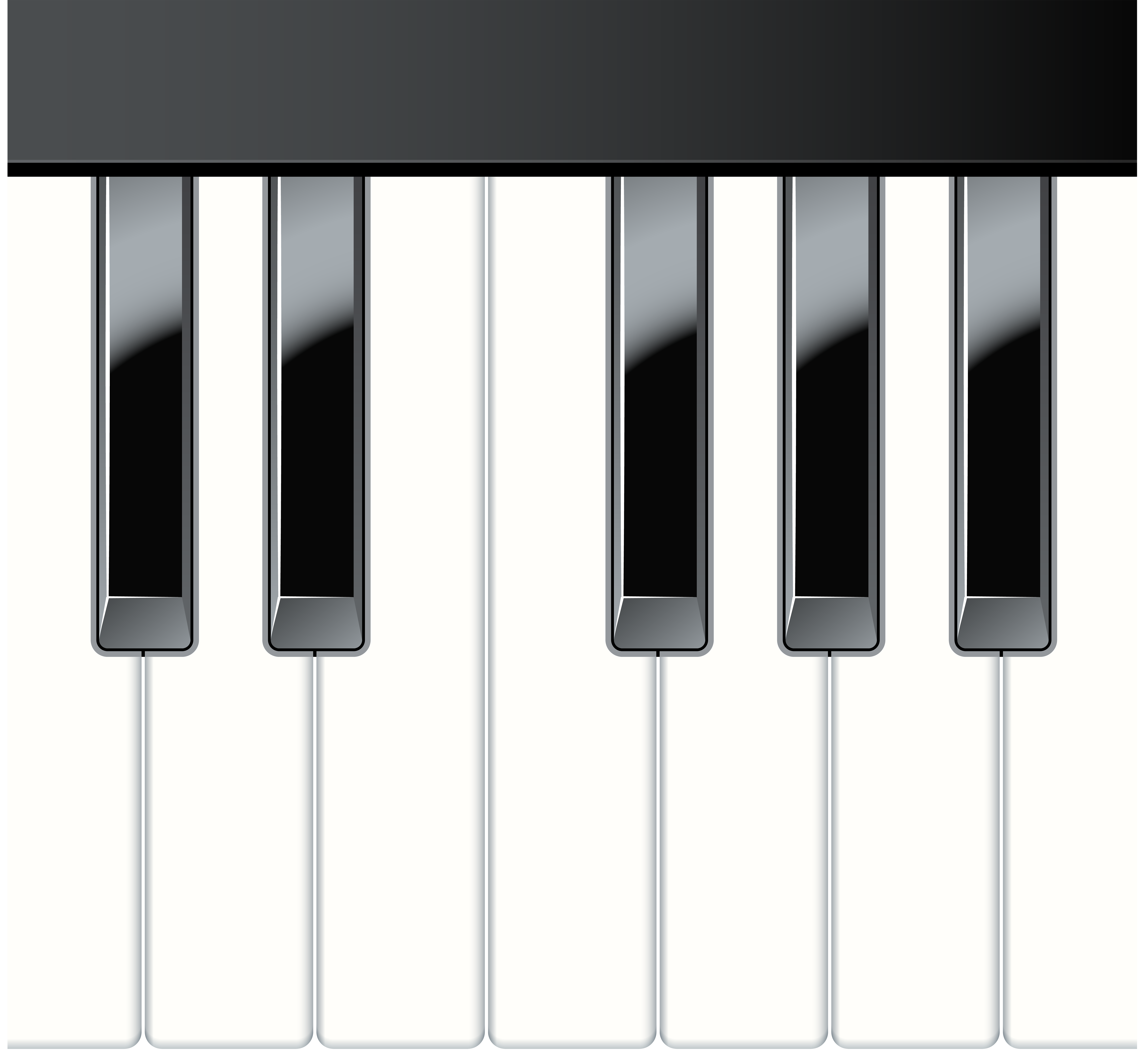 Png clip art gallery. Free clipart piano keys