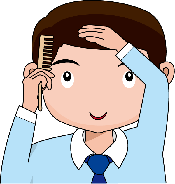 Free clipart pics of little boy brushing hair. A fit cliparts