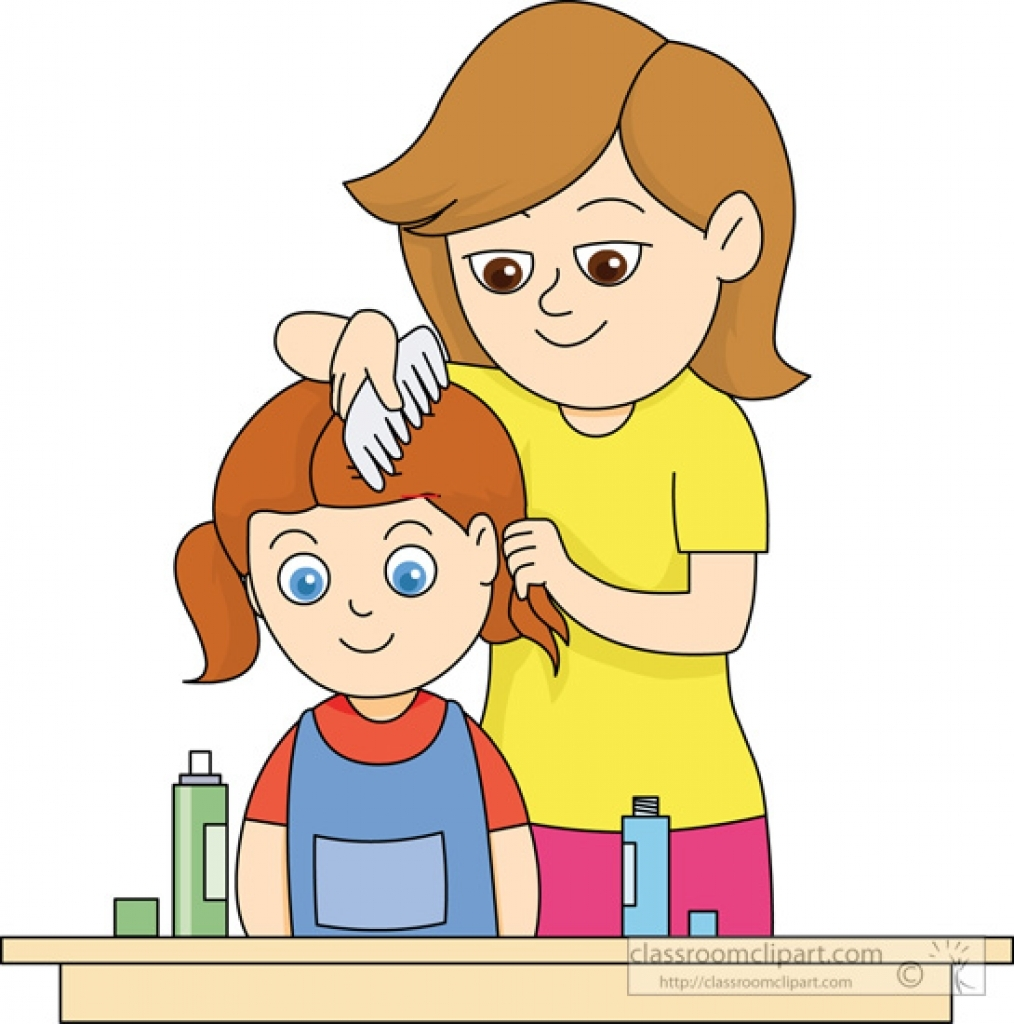 Free clipart pics of little boy brushing hair. Collection comb clean aztec