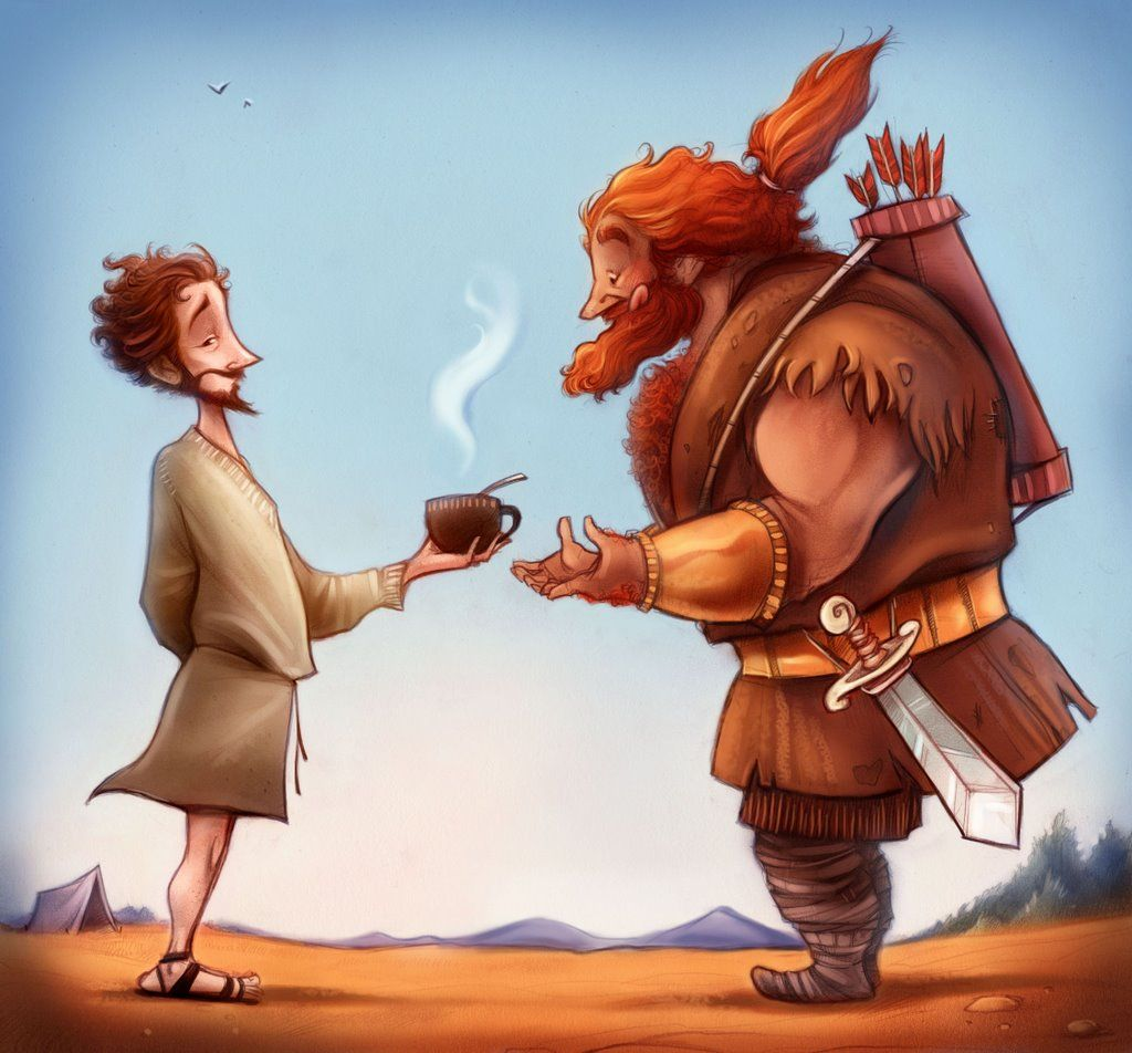 And esau illustration flk. Free clipart picture laban chases jacob for treasures