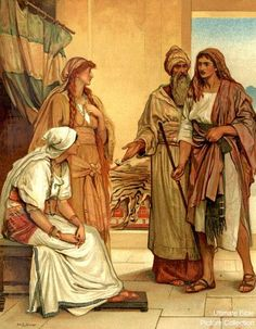 best bible images. Free clipart picture laban chases jacob for treasures