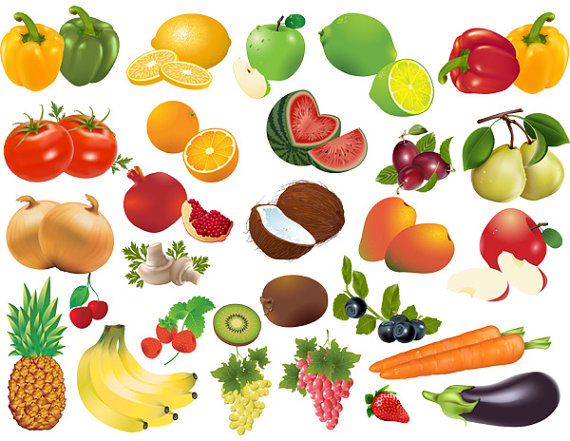 Top clip art image. Free clipart pictures of fruits and vegetables