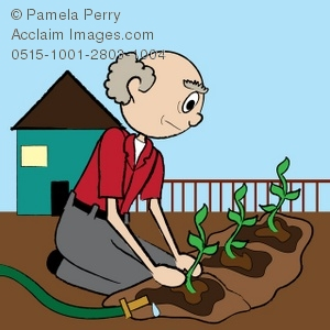 Free clipart planting seeds child and old person png freeuse library Clip Art Illustration of an Old Man Planting a Garden png freeuse library