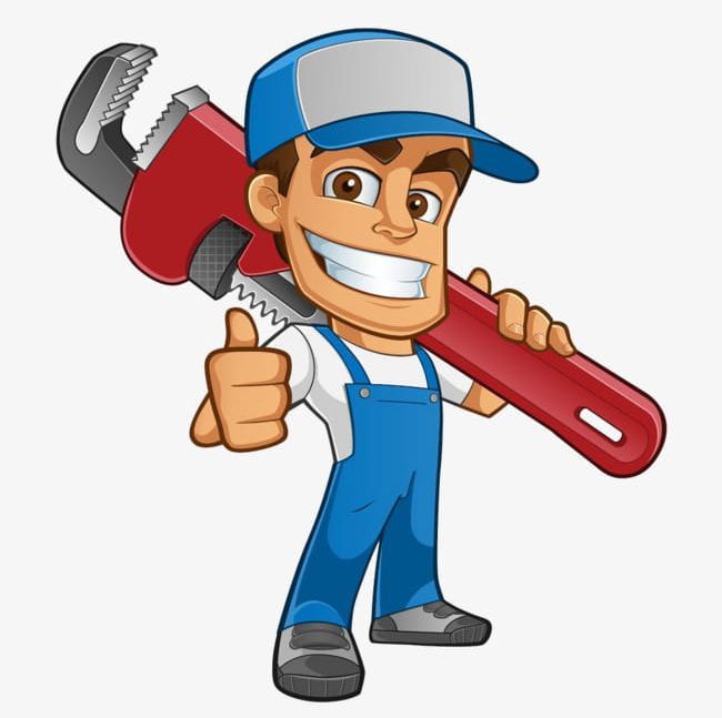 Free clipart plumbing svg royalty free download Cartoon Plumber PNG, Clipart, Blue, Career, Career Male, Carrying ... svg royalty free download