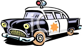 Free clipart police car clip transparent library Royalty Free Clip Art Image: Retro Police Car Cartoon clip transparent library