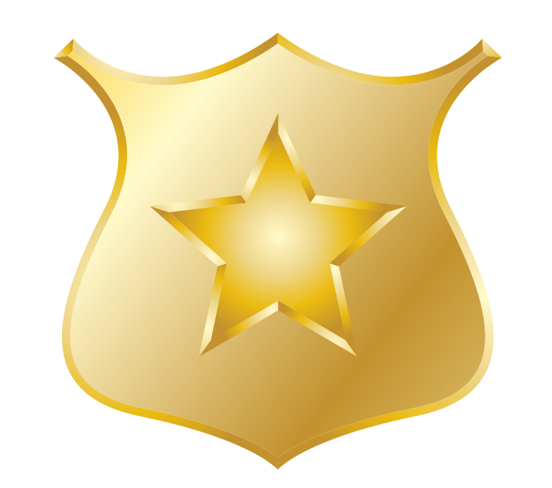 Free clipart police star png black and white stock Free clipart police star - ClipartFest png black and white stock
