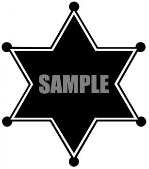 Free clipart police star jpg freeuse library Silhouette of a Police Sheriff 's Star Badge - Royalty Free ... jpg freeuse library