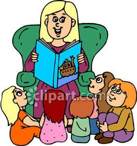 Teacher reading to her. Free clipart preschool teachers