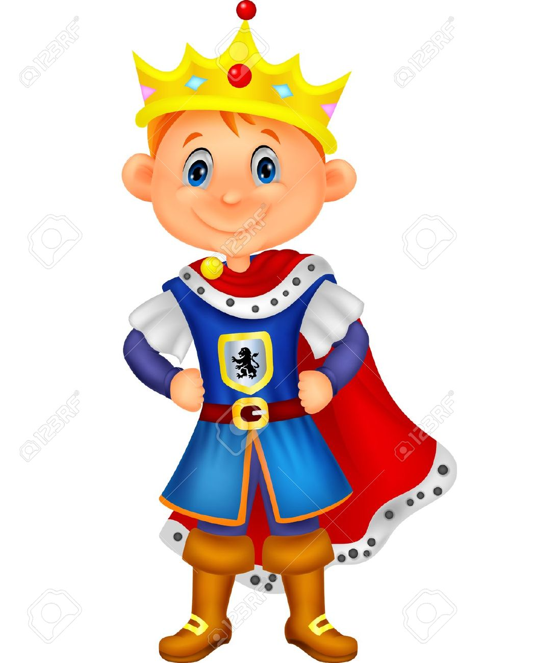 prince clip art. Free cute king on a throne clipart