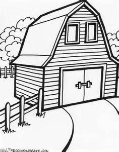 Image detail for barn. Free clipart printable black and white coloring pages barns