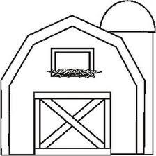 Barn outline page jpg. Free clipart printable black and white coloring pages barns