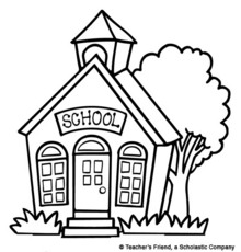 School house download best. Free clipart printable black and white line art houses