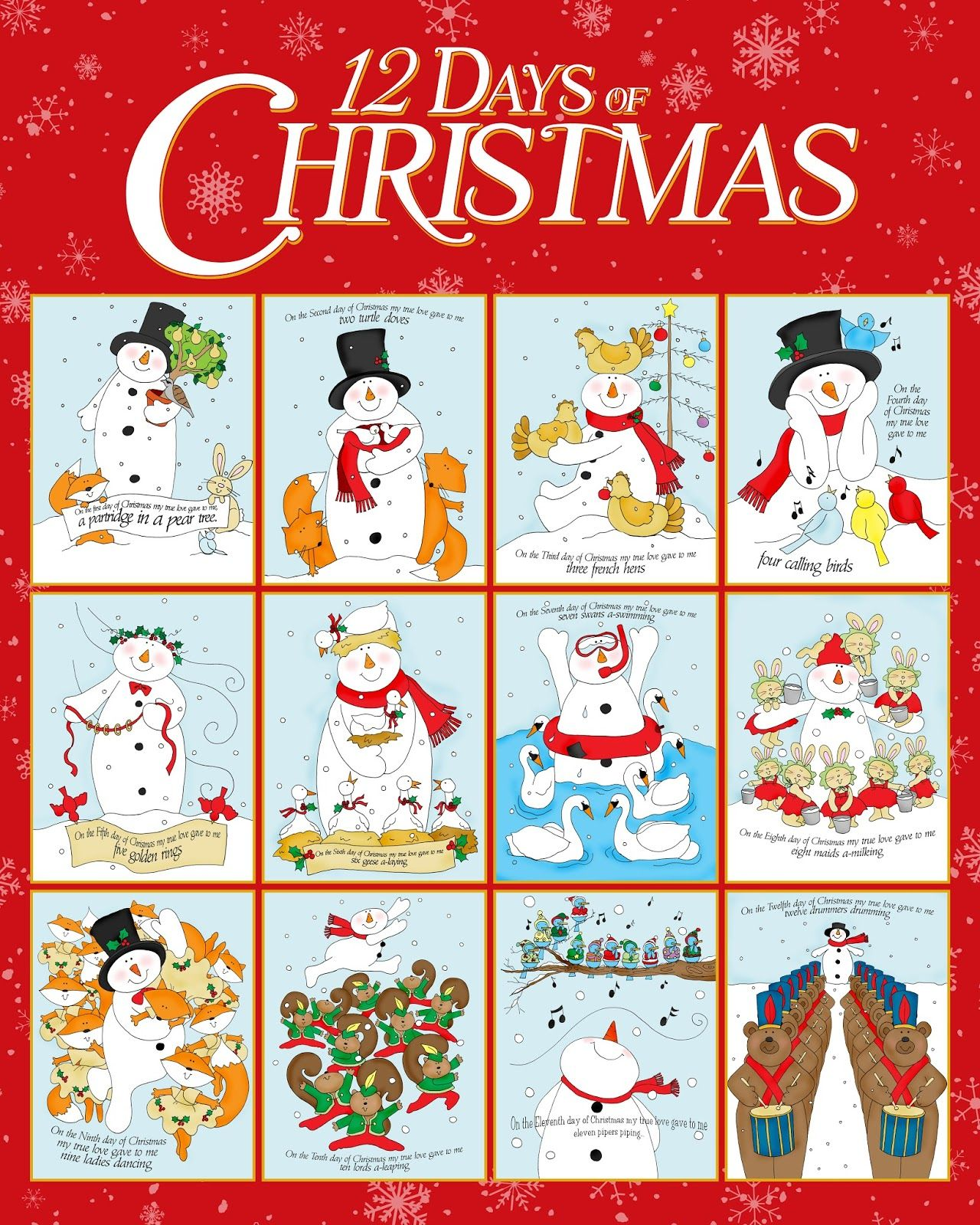 Free clipart printables 12 days of christmas. Dearie dolls digi stamps