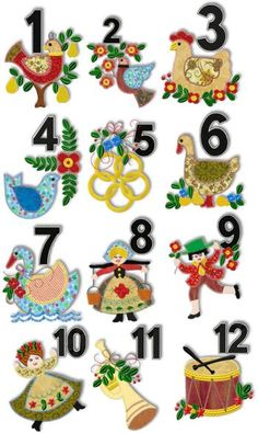 Free clipart printables 12 days of christmas.  best images in