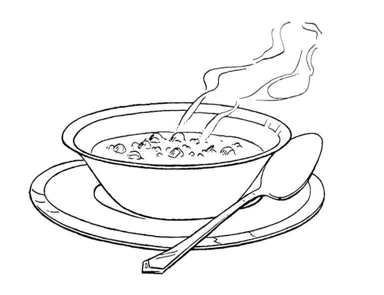Free clipart printables for chicken n noodle dinner picture library Image result for bean soup clip art black and white | Games of ... picture library