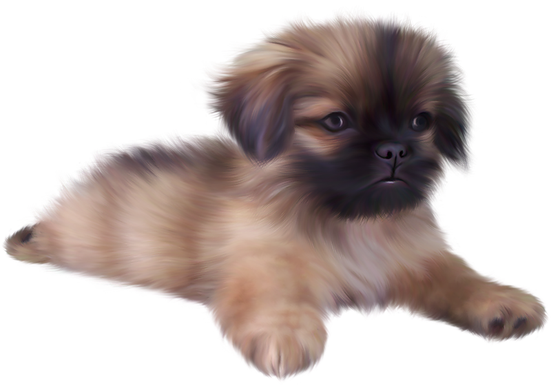 Free cute dog clipart jpg transparent library Painted Cute Puppy PNG Clipart | Gallery Yopriceville - High ... jpg transparent library