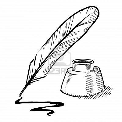Free clipart quill pen and ink vintage. Stock illustration blogging business