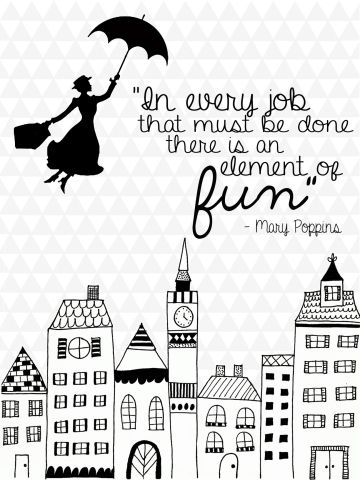 Free clipart quotes graphics all work and not play download In every job that must be done there is an element of fun"