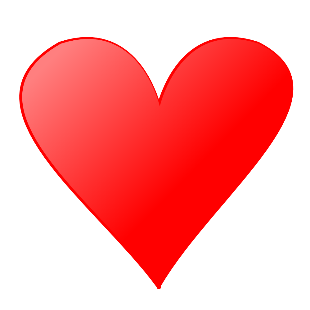 Red heart free clipart