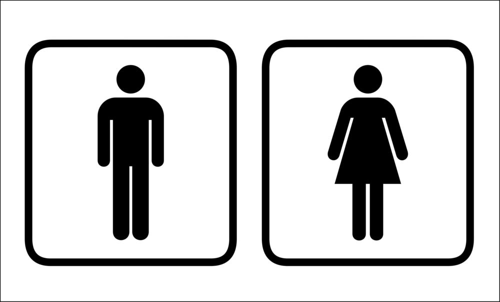 Free clipart restroom signs graphic black and white 15 Mens Womens Bathroom Signs Free Cliparts That You Can Download To ... graphic black and white
