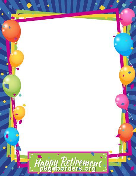 Pinterest . Free clipart retirement borders