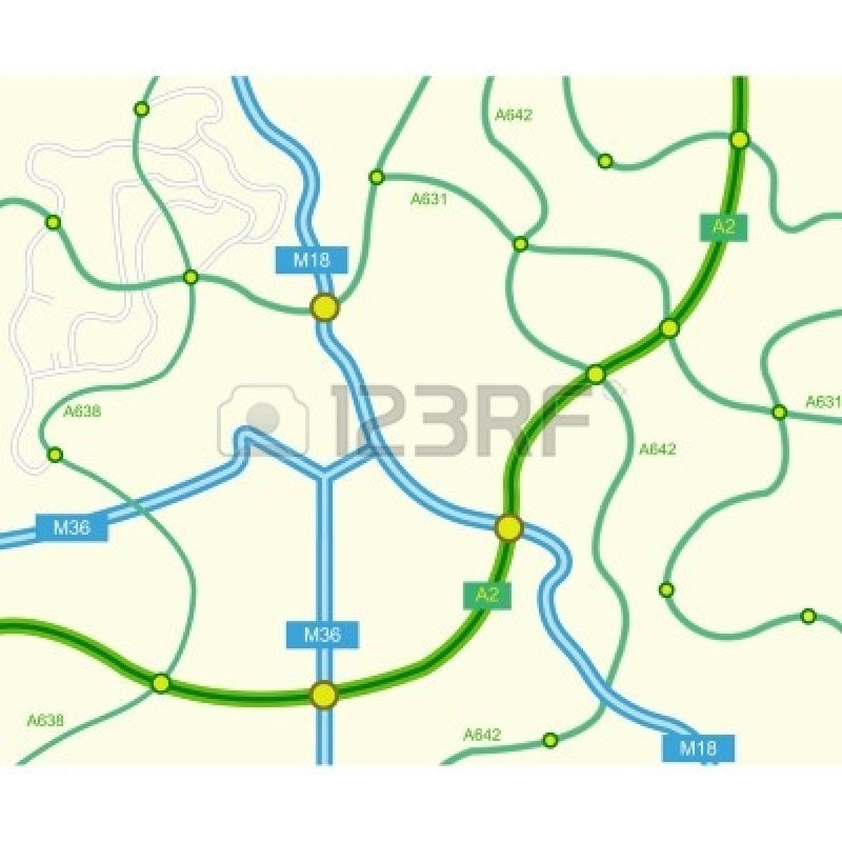 Free clipart road map clip free library Free clipart road map 2 » Clipart Portal clip free library