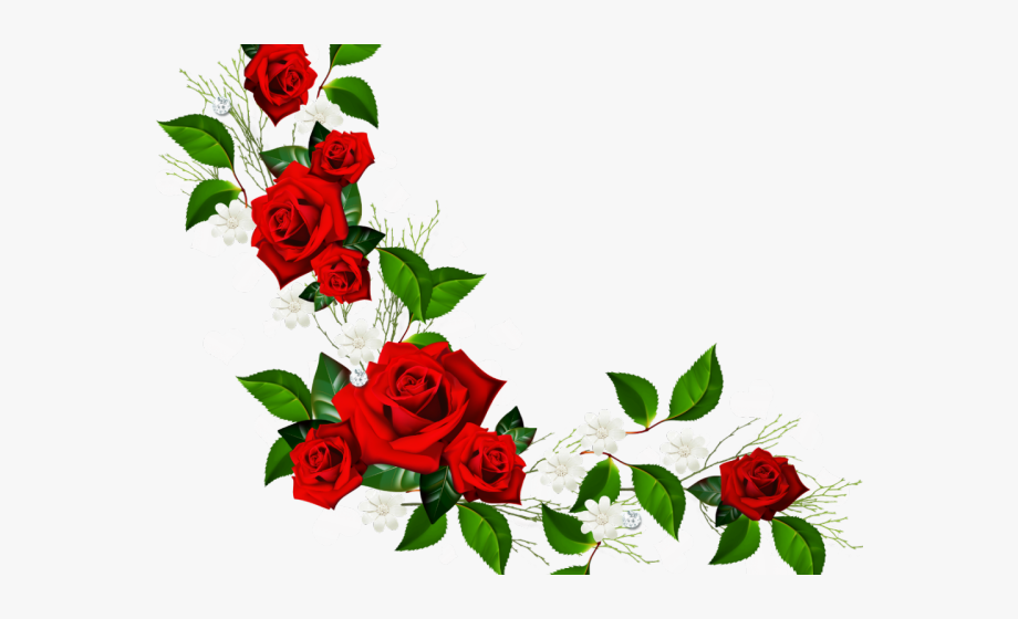 Free clipart rose border. Vine corner flower png