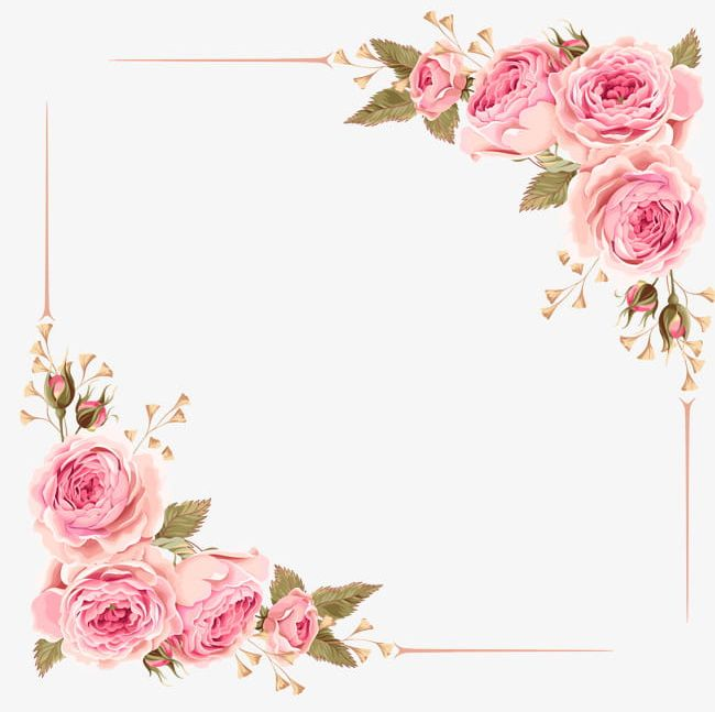 Free clipart rose border. Simple hand drawn png