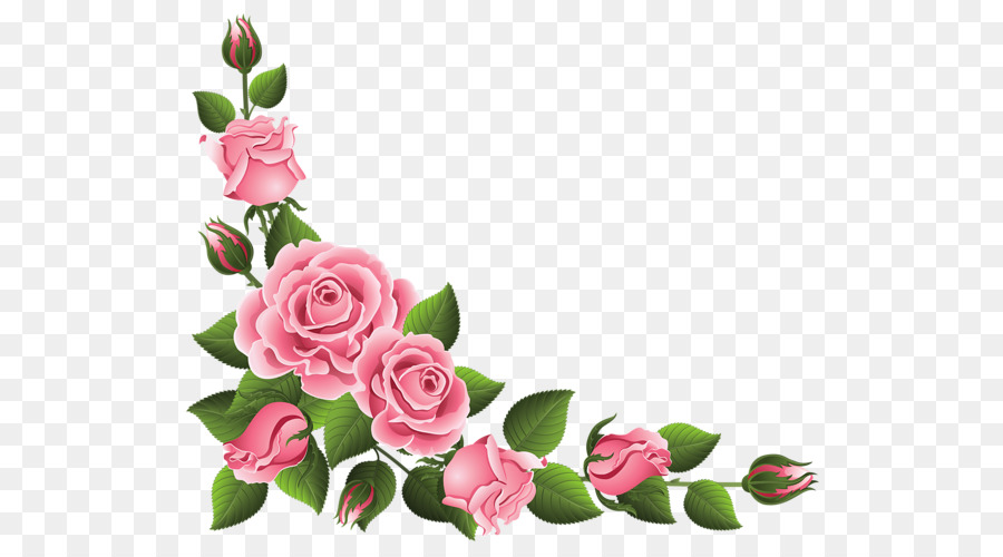 Free clipart rose border. Pink clip art png
