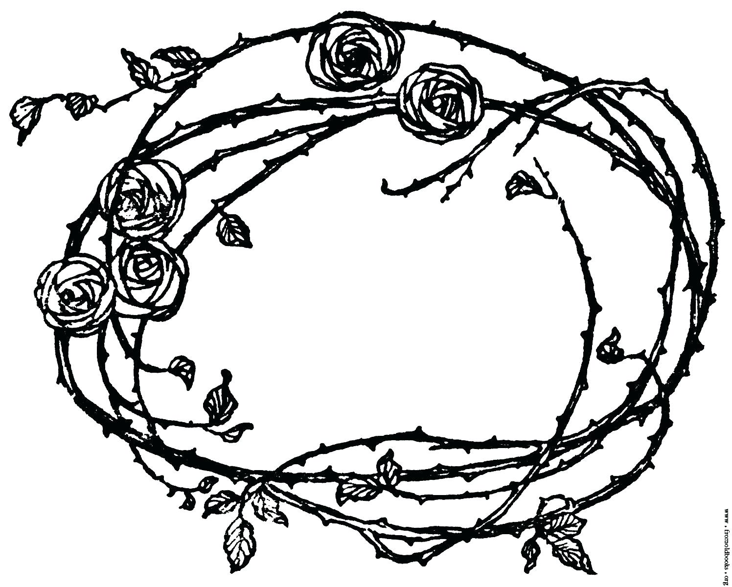 Free clipart rose with thornes coloring page clipart royalty free Crowned With Thorns Coloring Page – cellarpaper.co clipart royalty free